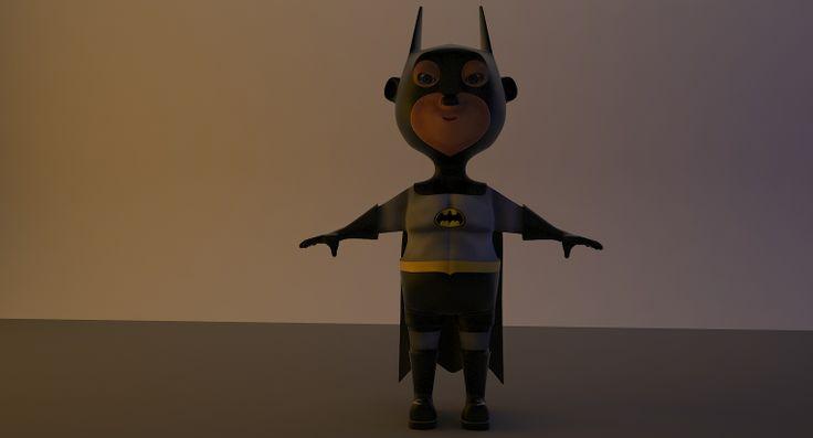 Batman - Estilizado Arquivo de estudo - Modelagem  3DMax - V-Ray
