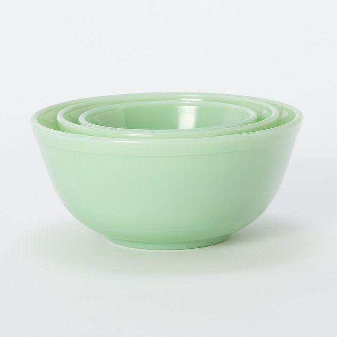Milk Glass Mixing Bowl Set by Terrain