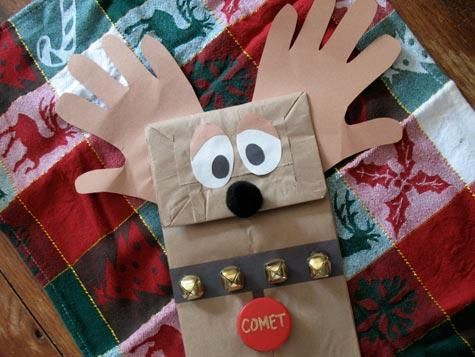 Paper bag puppetCrafts For Kids, Kids Christmas, Crafts Ideas, Christmas Crafts, Winter Crafts, Paper Bags, Kids Crafts, Christmascrafts, Holiday Crafts