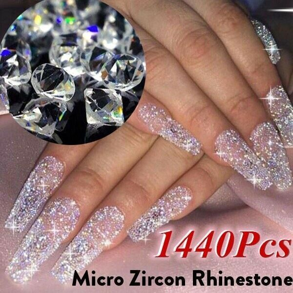 1440pcs Crystal Zircon Rhinestone 3d Jewelry Glass Diamond Nail