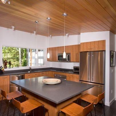 Mid Century Kitchen With Large Island