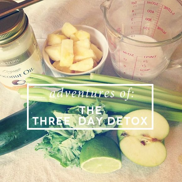 3 day detox. Someday I'll have the balls tod o this.
