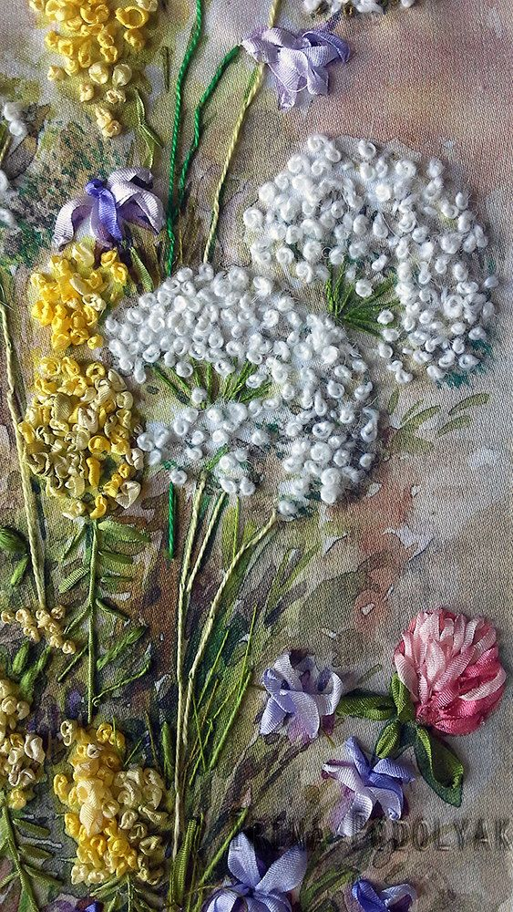 Silk ribbon embroidery Wildflowers full kit