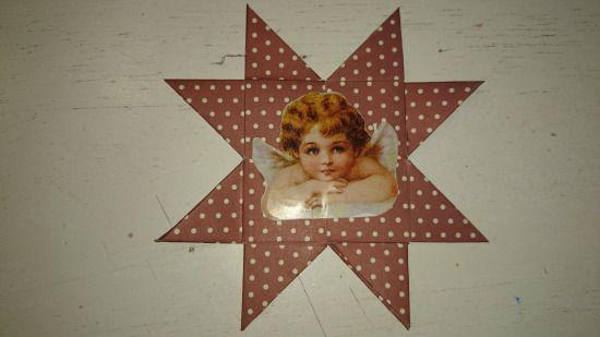 Lav en flettet stjerne med engle motiv