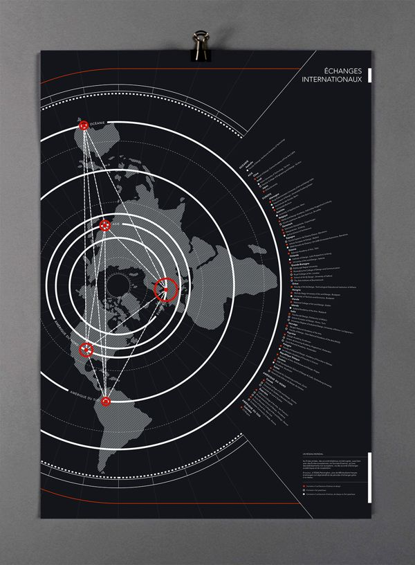 Data Visualization – Philippine Vuatrin, via Behance #alternate #map #orientation