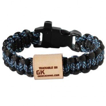 GeoKnots Survival Bands - Digital Blue/Black Reflective