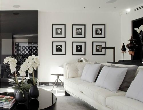 #black and #white #living_room | Evelina Irene