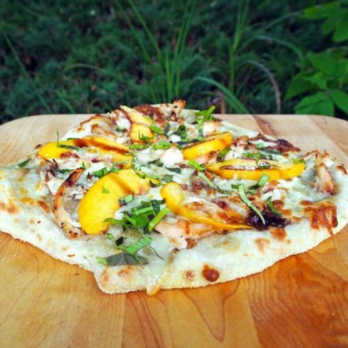chicken peach pizza recipe