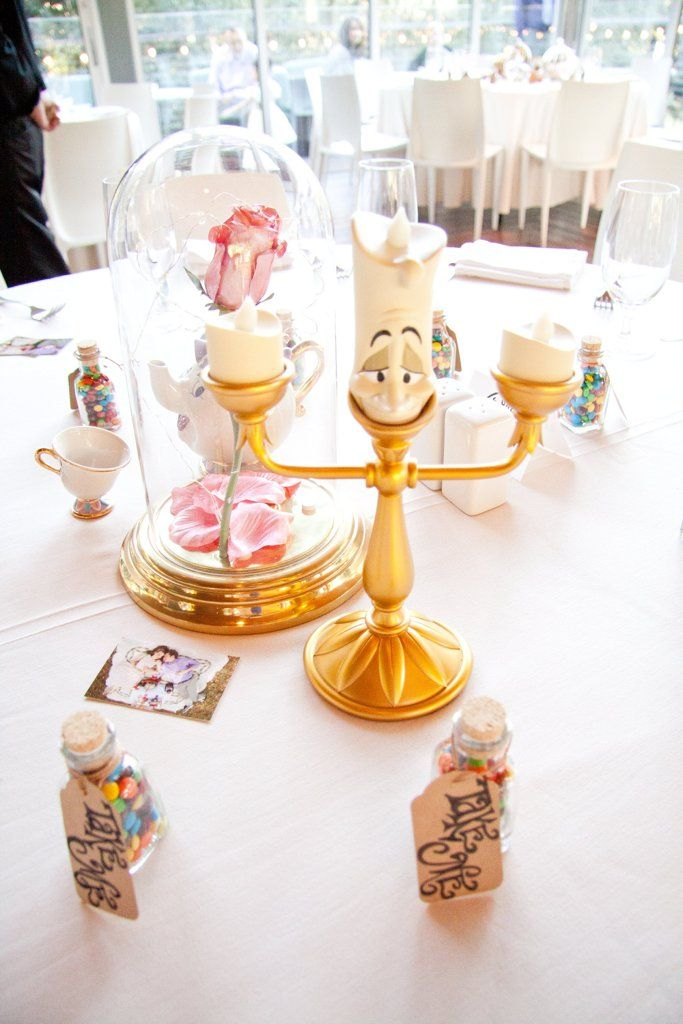 Disney inspired wedding. Each Table at This Adorable Wedding Reception Is Based Off a Disney Movie!