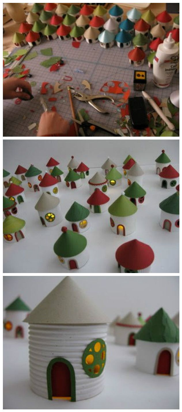 Christmas decorations out of paper towel rolls - Christmas Decorations Out Of Paper Towel Rolls