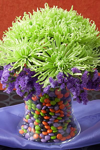 What better way to celebrate and decorate for Halloween than with a Halloween candy vase! Learn how to do it yourself from Lifestyle Expert Julie Mulligan!