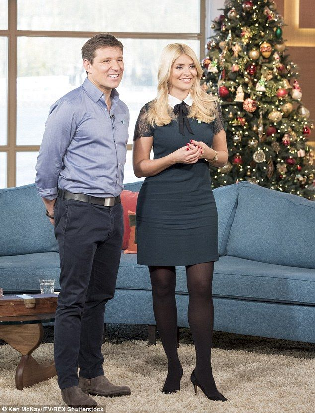 Looking good: Holly Willoughby showed off her incredible legs when she presented This Morn...