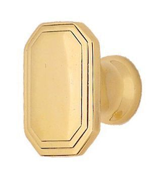 rectangular deco cabinet knob brass