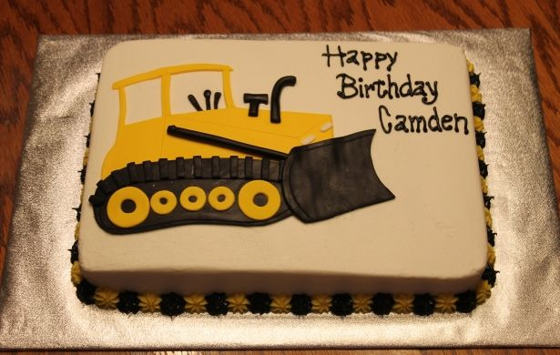 Bulldozer Sheet Cake