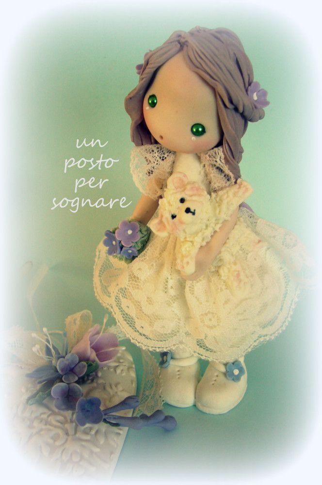 bambolina prima comunione,porcellana fredda,doll porcelana fria,polymer