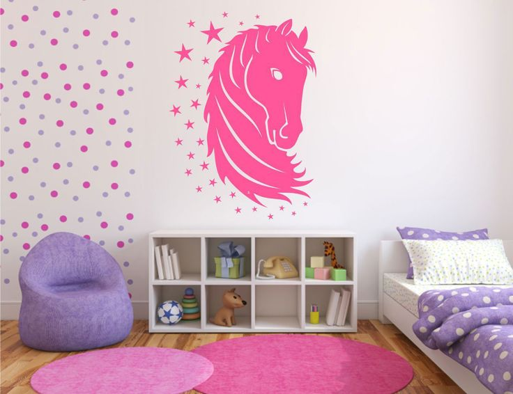 cute designs for walls | , Wonderful Teenage Bedroom Designs Collection 2014 : Cute Horse Wall ...