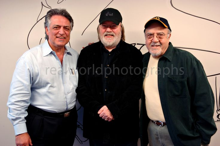 The late Joe Moscheo, drummer Ron Tutt and also passed Joe Guercio in Nashville, Tennessee, USA over a decade ago, posing for a photograph while filming Elvis Presley documentary. #joeguercio #joemoscheo #rontutt #nashville #realworldphotographs #elvispresley #photography #garymoorephotography #kelowna #photojournalism