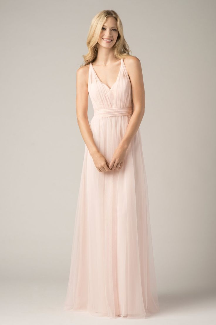 Best 10 blush bridesmaid gowns ideas on pinterest blush sweetheart long bridesmaid dress 2015 with multiple necklines ombrellifo Choice Image