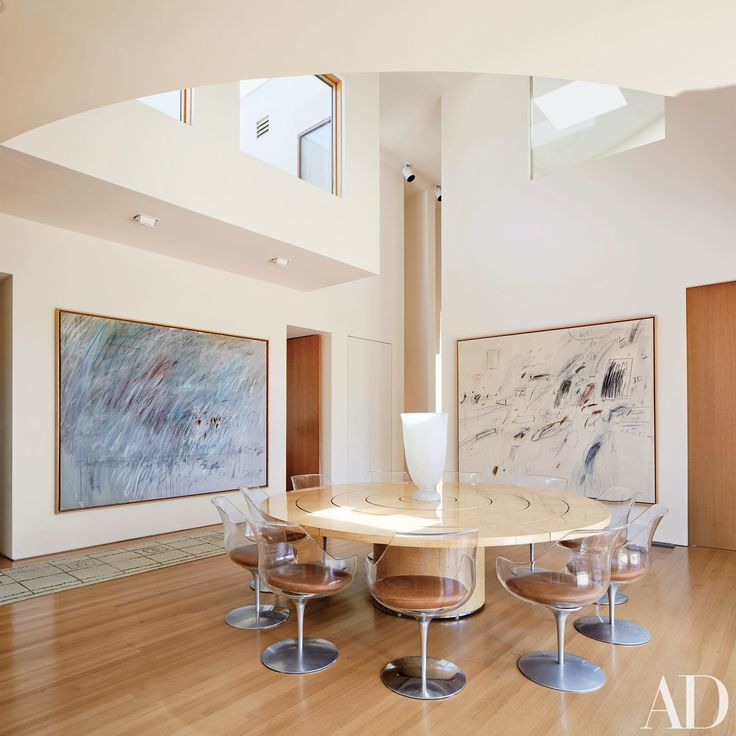 in the los angeles home u2014 designed by architect frank gehry u2014 of renown art collector eli broad interior designer rose tarlow used lucite dining chairs by