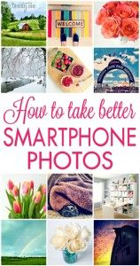 Sometimes I take awesome photos with my phone, but a lot of the time they look kind of lame.  This has tips on how to make them better.