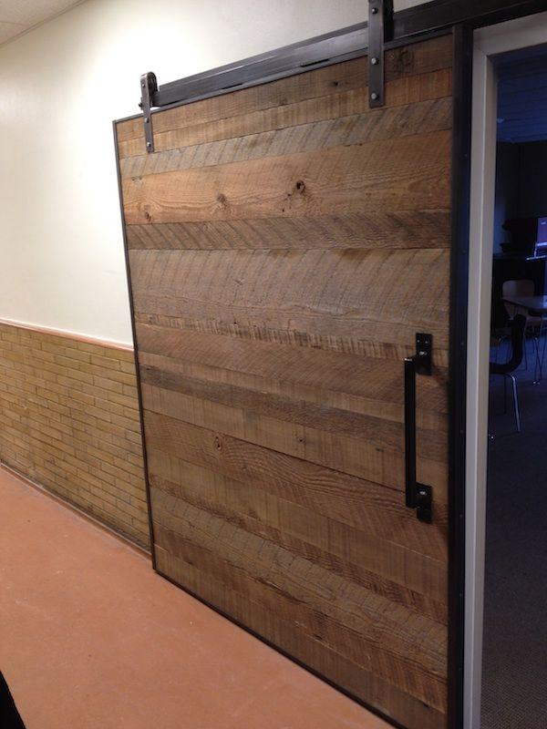 Steel Frame Large Timber Sliding Door Office Design