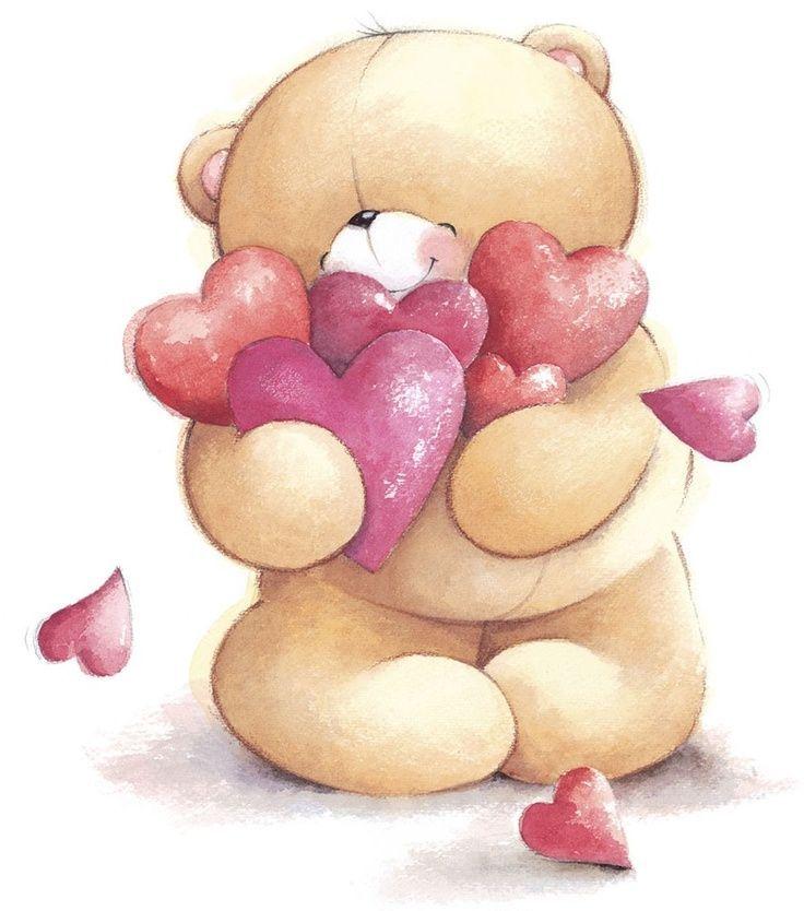 Открытка медведя о любви, мама сыночком нарисованные