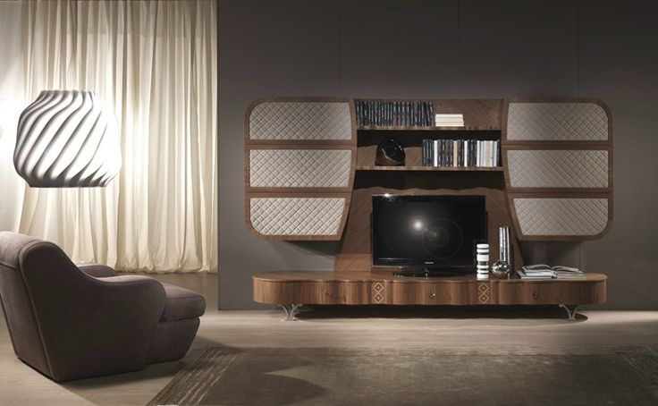 Mueble modular de pared de madera maciza con soporte para tv MISTRAL A Colección Carpanelli contemporary 2013 by Carpanelli Contemporary