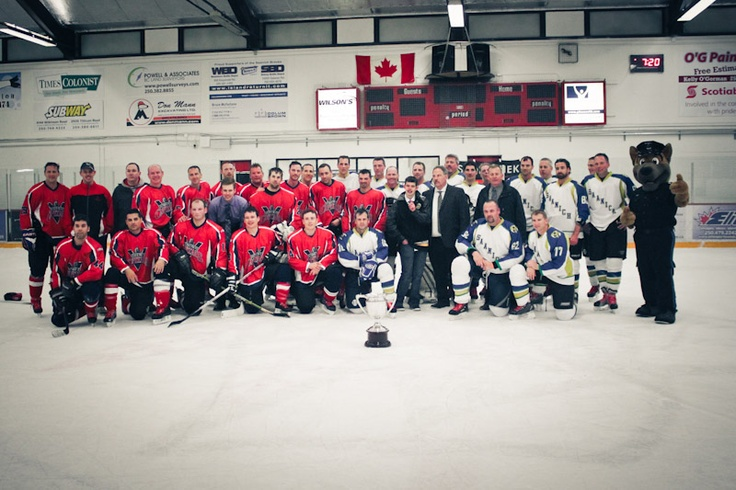 Over $2400 was raised for the Special Olympics at the inagural Battle of the Blades last night. The Saanich Police Watchdogs beat the VicPD Capitals 4-2. Saanich Police will now have their flag hang at VicPD Headquarters for the weekend.