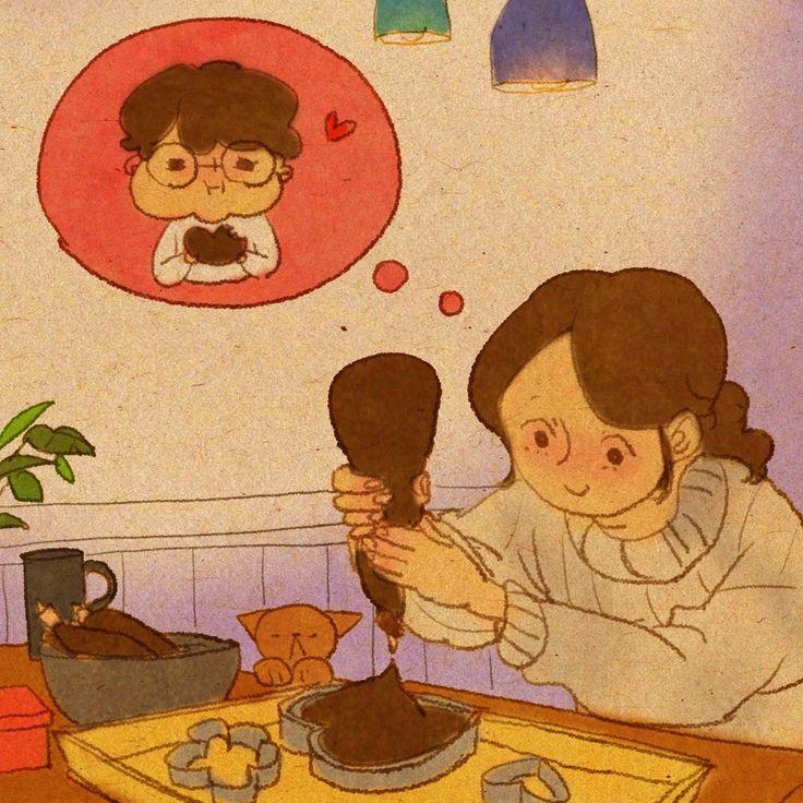 ♥  lembrei da nossa conversa. A motivação pra cozinhar ♥  by Puuung at www.facebook.com/puuung1  ♥