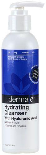 Derma E Hyaluronic Hydrating Cleanser -- 6 fl oz - Vitacost