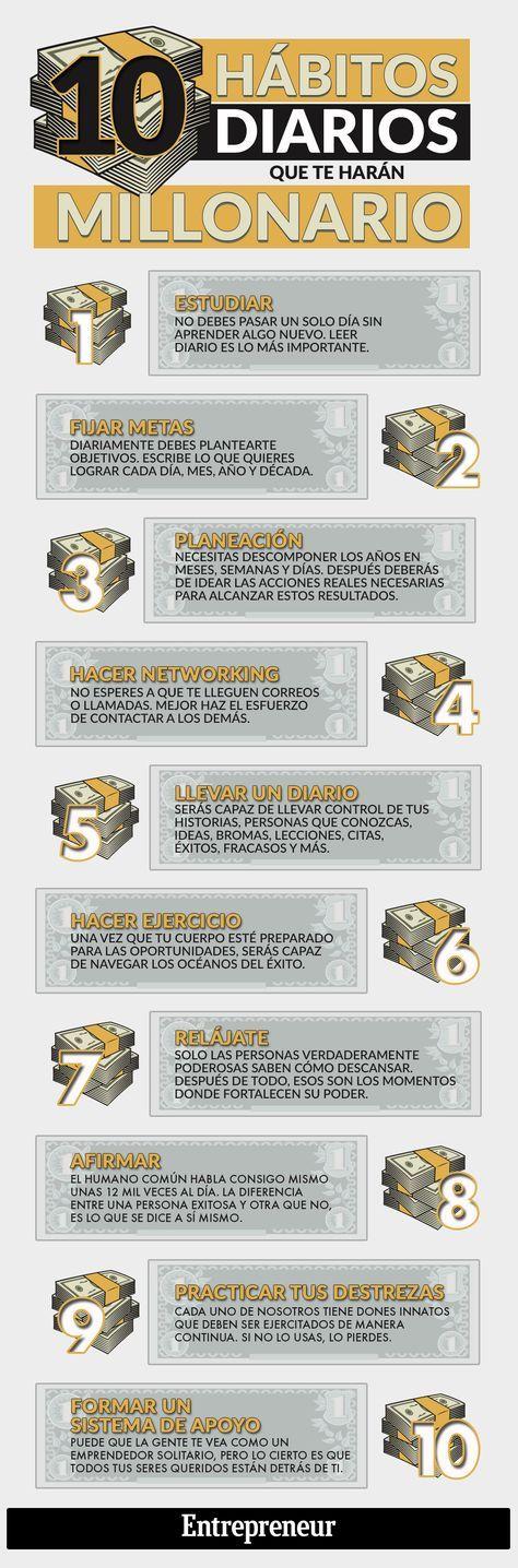 Hola: Una infografía con 10 hábitos que te harán Millonario. Vía Un saludo