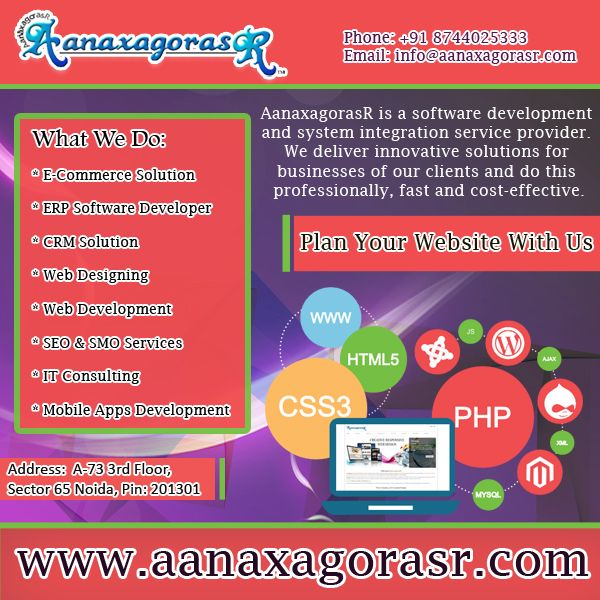 AanaxagorasR is a converge point for Global clients who look for technology driven, vibrant digital environment, high quality, cost effective web solutions & services. Visit: http://www.aanaxagorasr.com/ Or Call- +918744025333