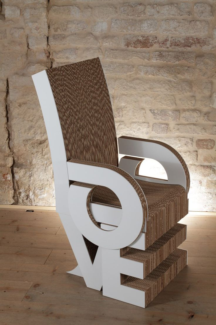 65 best Muebles hechos con Cartón images on Pinterest | Cardboard ...