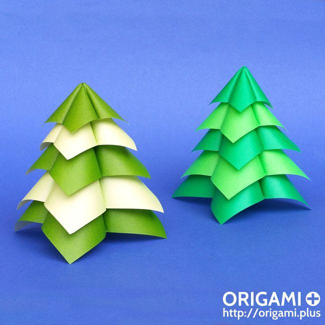Un sapin de Noël en origami qui ne prend que 5 minutes à faire !