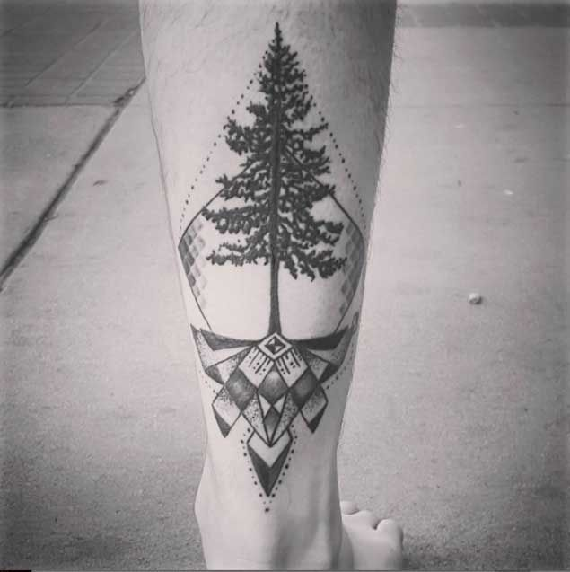geometric-tree-tattoo