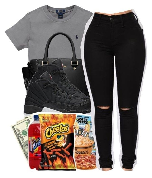 """Untitled #250"" by goldenbarbiie ❤ liked on Polyvore featuring Ralph Lauren, MICHAEL Michael Kors and NIKE"