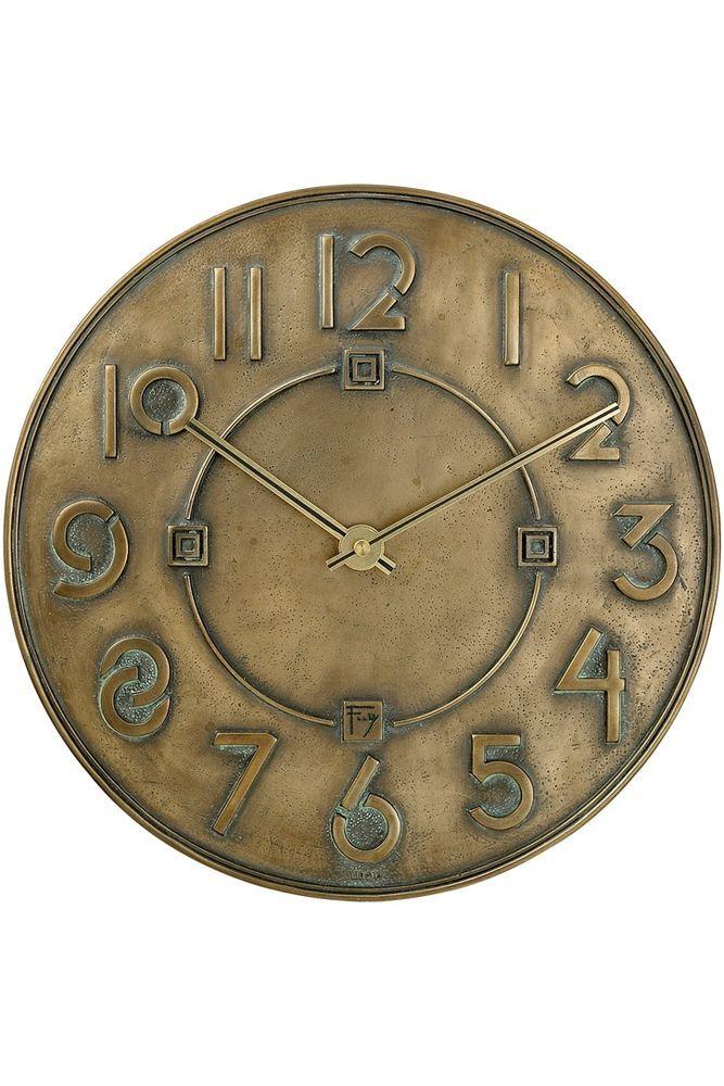 Bulova Frank Lloyd Wright EXHIBITION TYPEFACE 12″ Round Wall Clock, C3333 #Bulova #Wall