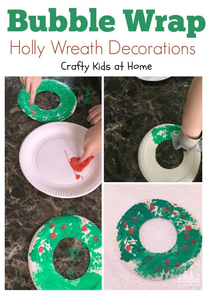 Christmas wreaths are not just for your front door. They look great indoors as well. Especially when your own kids have made them. Our Simple Bubble Wrap Holly Wreaths are also a great way to re-use all of that bubble wrap arriving with your Christmas shopping.