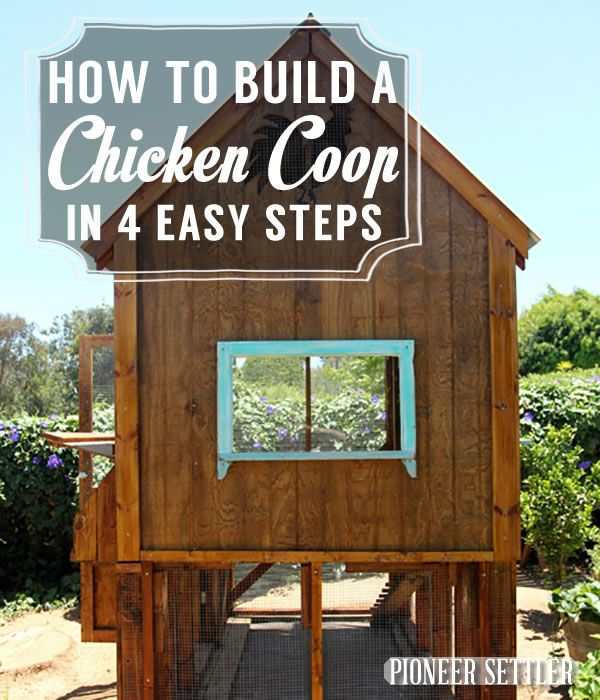 DIY Chicken Coop | Cool DIY Projects & Homesteading How-To's | Pioneer Settler | Best DIY Projects for the Homestead at pioneersettler.com