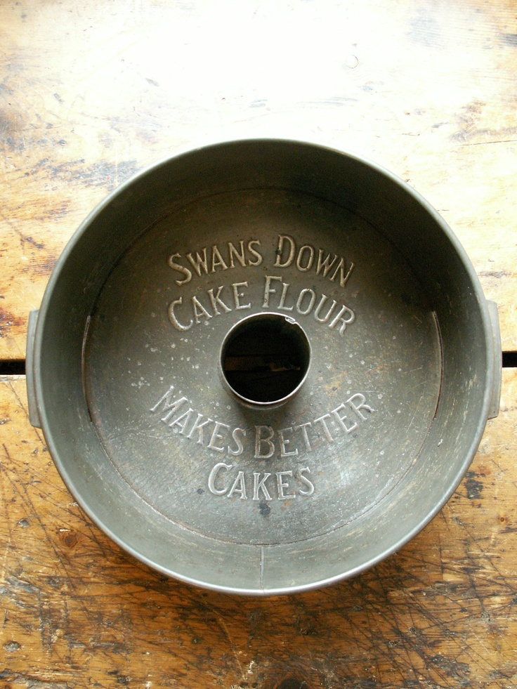 Vintage Swans Down Cake Flour Angel Food Baking Pan With Advertising