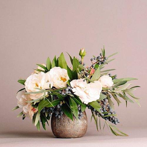 Brides: Wedding Flower Trend We Love: Privet Berries in Bouquets and Floral Arrangements