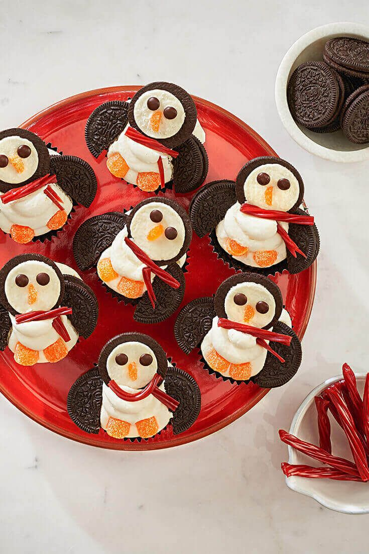 Learn How To Make Polar Penguin Cupcakes. Make your favorite cupcakes, then make them super cute with these instructions.