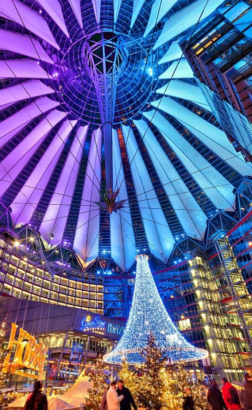 The Sony Center During Christmas Berlin by Wolfgang Peth https://www.360cities.net/image/the-sony-center-during-christmas-berlin#0.00,-37.37,87.0