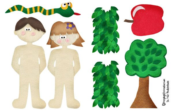creation eve children | Adam and Eve Felt Story Set {includes free printable!} | Keeping Life ...