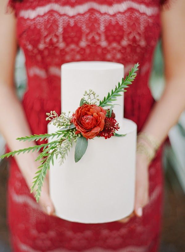 Holiday themed, rustic engagement party