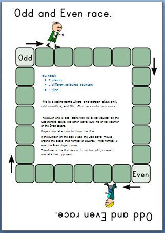 Here's a fabulous little game for focusing on odd and even numbers.