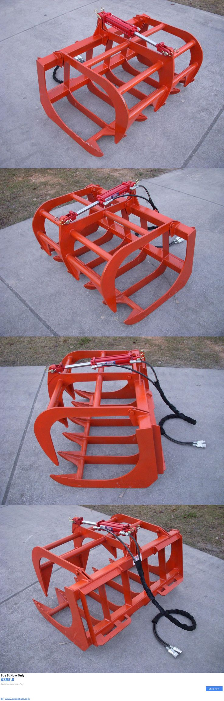 heavy equipment: Kubota Compact Tractor Attachment - 48 Root Rake Grapple Bucket - Free Shipping BUY IT NOW ONLY: $895.0 #priceabateheavyequipment OR #priceabate