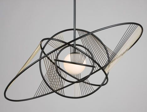 Helios pendant light by Pouenat Ferronnier.  Decorex International 2012