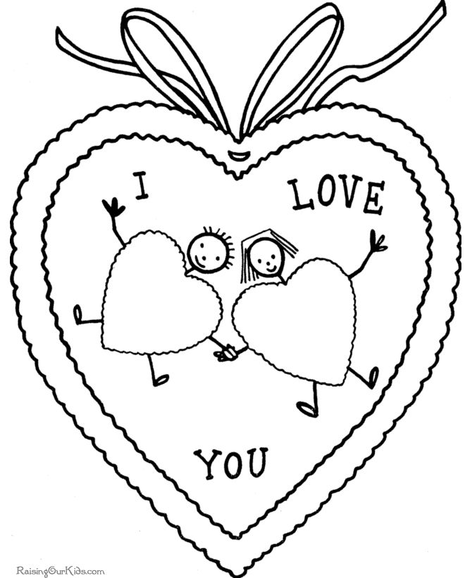 106 best images about Valentine Coloring Pages on Pinterest