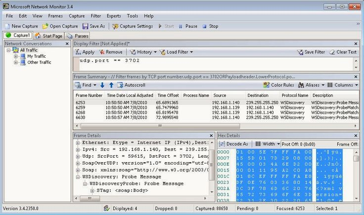 Tools :: #Windows #Network #Monitoring  Network Monitor 3.4 :: Capture and Analysis of Network Traffic  Microsoft's Network Monitor is a tools that allow capturing and protocol analysis of network traffic. Network Monitor 3 is a protocol analyzer.   Tutorials[V] & Download :: http://www.toolwar.com/2014/02/microsofts-network-monitor-capturing.html